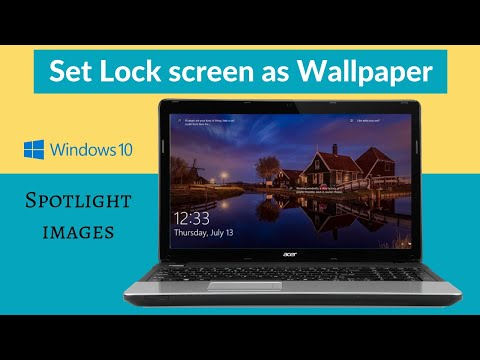 Set Windows 10 Lock Screen Image As Your Desktop Wallpaper