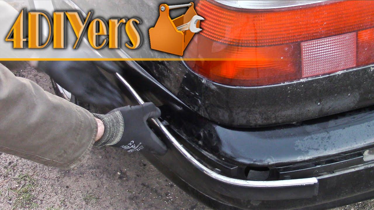 Diy Bmw E39 Rear Bumper Moulding Removal Youtube