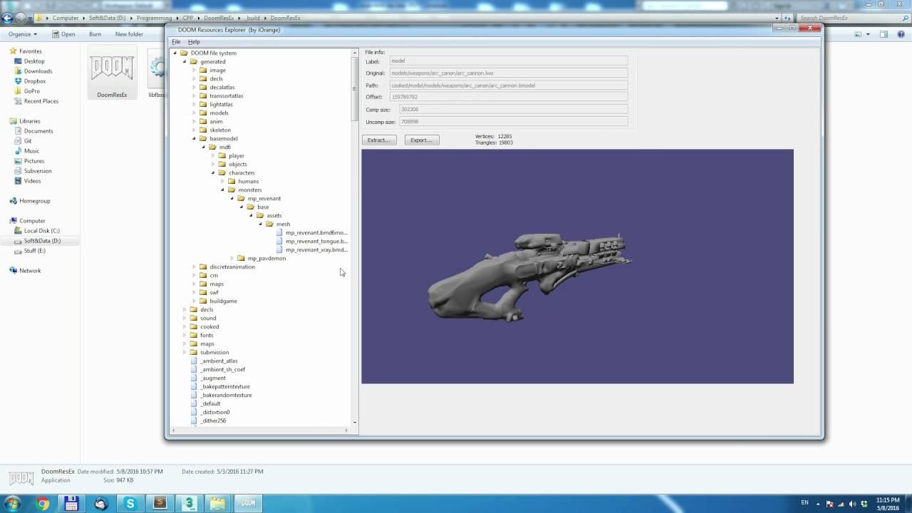 DooM Resources Explorer (DoomResEx) overview