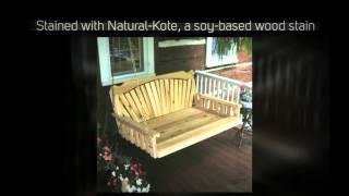 Al Furniture Co. Fanback 5ft. Red Cedar Swing Bed - 432c