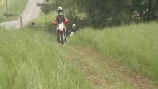 fast dirt biking on yamaha yz 80 and honda xr 80 and trx 90