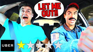 Picked Up My BROTHER In An UBER Under DISGUISE.. *BAD IDEA*
