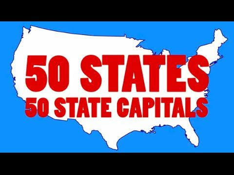 Learn The US State Capitals And State Abbreviations - Map of us states in alphabetical order