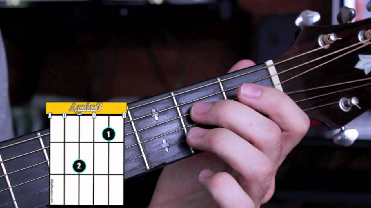 How To Play Am7 On Guitar Open Position Beginner Guitar Chords