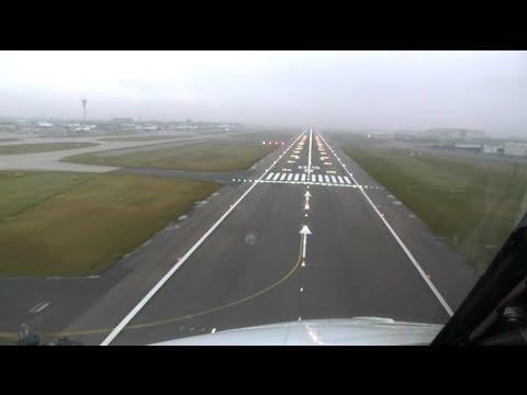 [Full HD] COCKPIT LANDING Boeing 737-300 @Heathrow