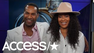 """""""The Proposal's"""" LisaRaye McCoy and Anthony sit with Access and pla..."""