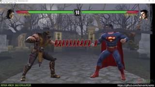 Xenia Xbox 360 Emulator - Mortal Kombat vs DC Universe ingame! (dcd71c1/Jun 19 2016)