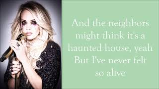 Carrie Underwood ~ Ghosts on the Stereo (Lyrics) Video