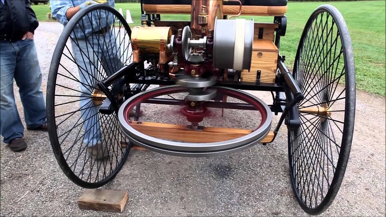 Driving First Automobile Mercedes Benz 1886 Model ! - YouTube