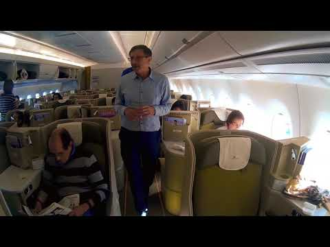 VIETNAM AIRLINES BUSINESS CLASS PARIS CDG TO HANOI HAN BY A350-900 Long-Haul  Direct Non-Stop