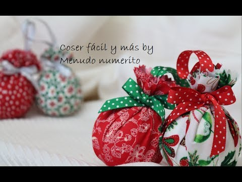 cmo hacer adornos para el rbol con telas diy christmas tree decorations youtube