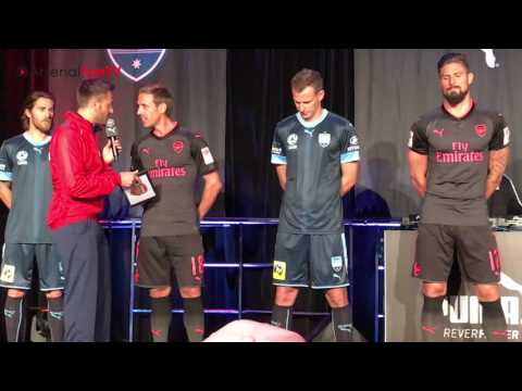 Arsenal 3rd Kit Reveal in Sydney - Ft Giroud, Monreal & Petr Cech