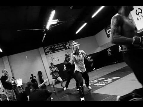 Holly Holm training to fight against Ronda Rousey