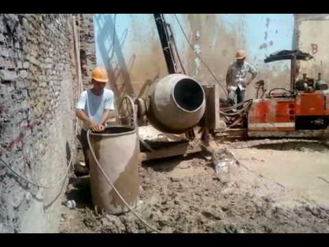 Tường Vây - Trộn bê tông và đổ bê tông.3gp