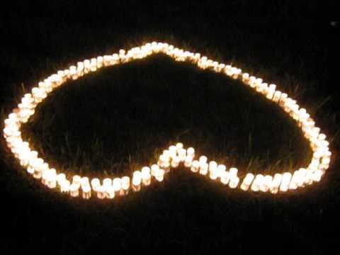 Сердце из 200 свечек (как попросить прощения у любимой девушки)
