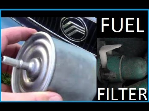 How To Change A Fuel Filter Youtube