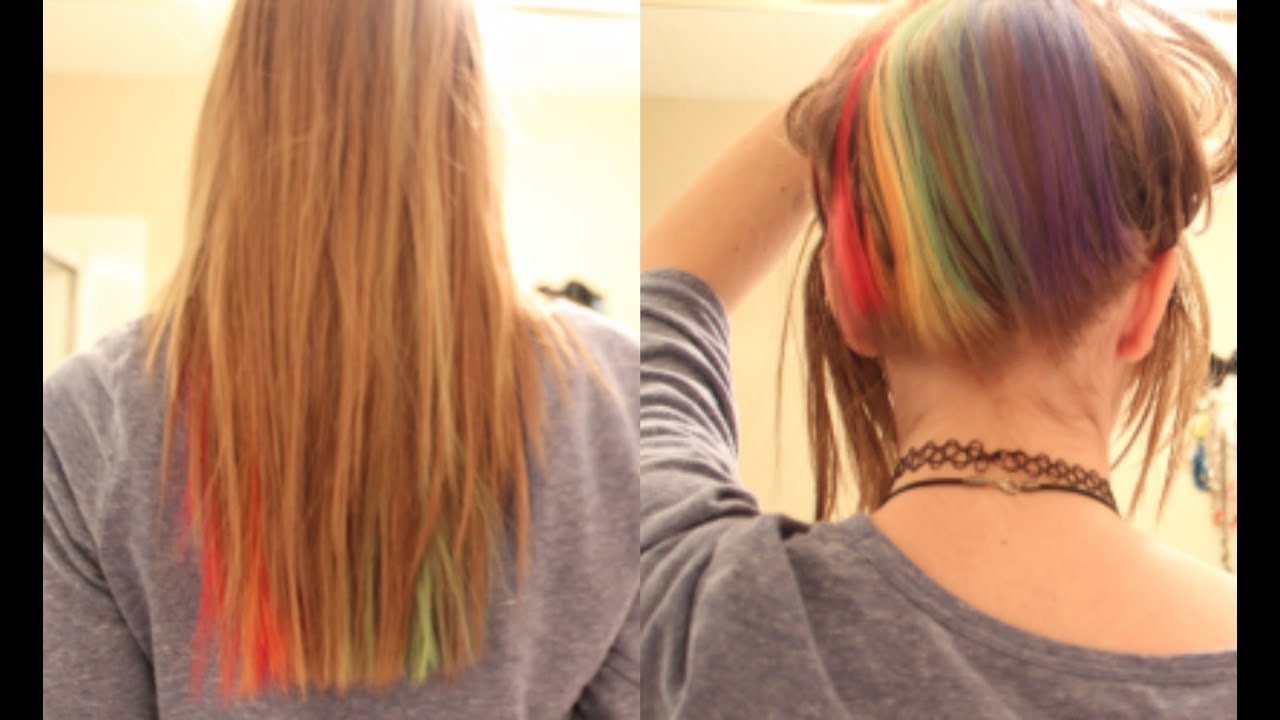 Rainbow Hair(underneath) Tutorial and Tribute Video - YouTube