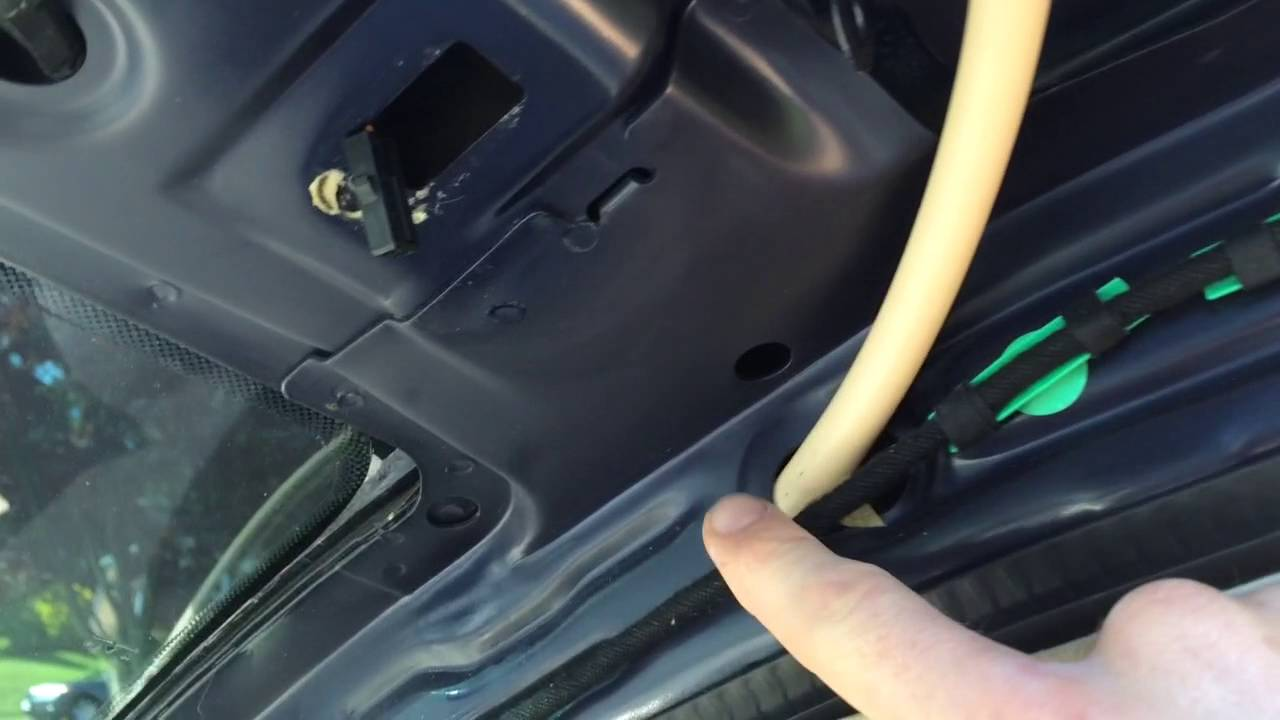 2001 Beetle Front Sunroof Drain Hose  YouTube