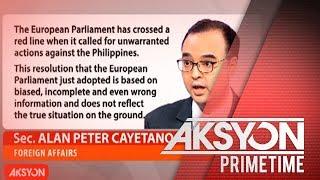Sec. Cayetano vs. EU