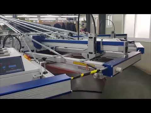 Used MHM textile screen printing machine Model Syncloprint