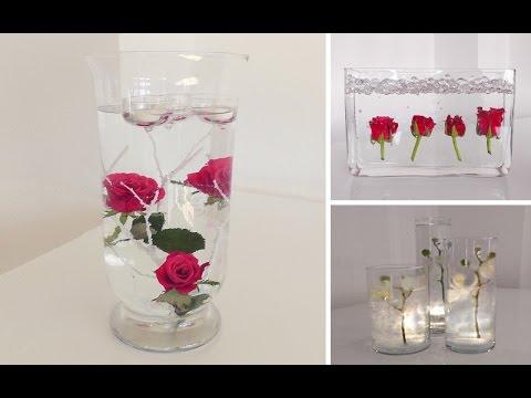 DIY Centerpiece Fr TischDeko  Unterwasser Blumen