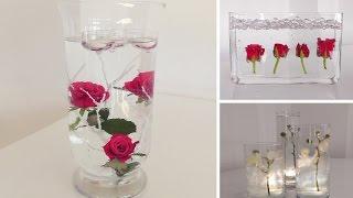 DIY: Centerpiece für Tisch-Deko -- Unterwasser Blumen | Deko Kitchen