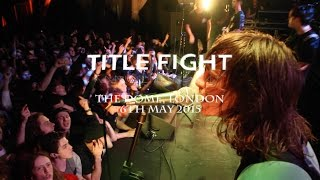 TITLE FIGHT (FULL SET) - The Dome, London