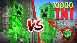 CREEPER DE 10.000 TNT VS CREEPER MUTANTE  💣💥 ¿QUIEN EXPLOTA MÁS FUERTE? ROLEPLAY MINECRAFT