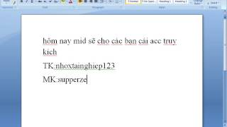 Cho ACC Truy Kich Vao Duoc 100%, Khong Lua Dao