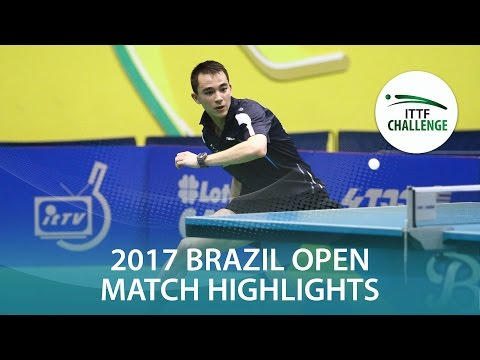 2017 Brazil Open Highlights: Hugo Calderano vs Thomas Keinath (R16)