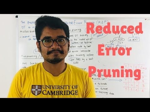 Machine Learning | Reduced Error Pruning