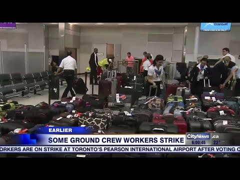 700 ground crew workers walk off the job at Pearson