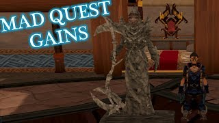 In this part we do lots of agility, quest a bunch, and get some ran...