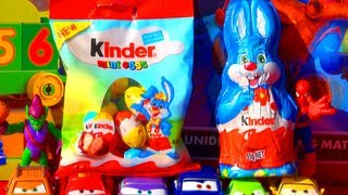 Kinder Surprise Eggs Unboxing Mini Eggs & Easter Bunny Psy Dance 2013 Easter Eggs Unboxing Review!