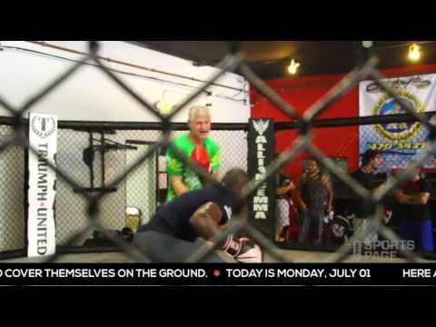 Kevin Acee goes in the octagon with MMA fighter, Phil Davis