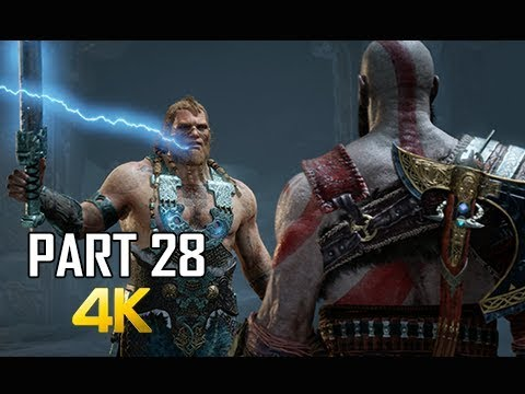 GOD OF WAR Gameplay Walkthrough Part 28 - GODS BOSS BATTLE (PS4 PRO 4K Commentary 2018)