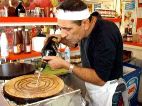 You will never enjoy anything nearly as much as this guy loves making crepes