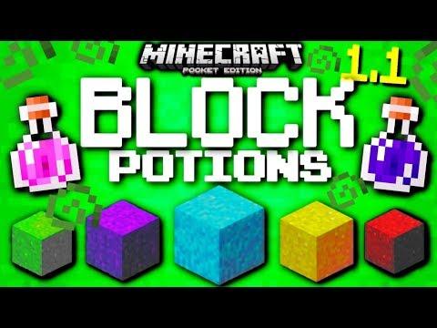 ✔️MCPE 1.1   POTION BLOCKS in Minecraft PE! [ONE COMMAND]