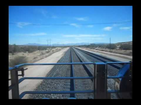 UP 844 Steam Engine Ride: Willcox - Benson - Vail - Tucson, Arizona (from the dome, etc)