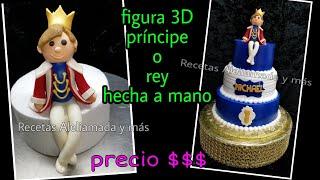 COMO HACER UN PRÍNCIPE O REY EN FONDANT/ FIGURA 3D /MODELADO A MANO / TOPPER CAKE