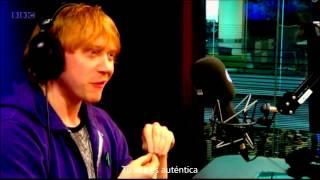 Rupert Grint singing