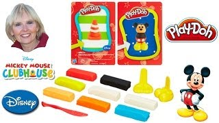♥♥ Play-doh Disney Makeables Set Featuring Mickey Mouse And Donald Duck