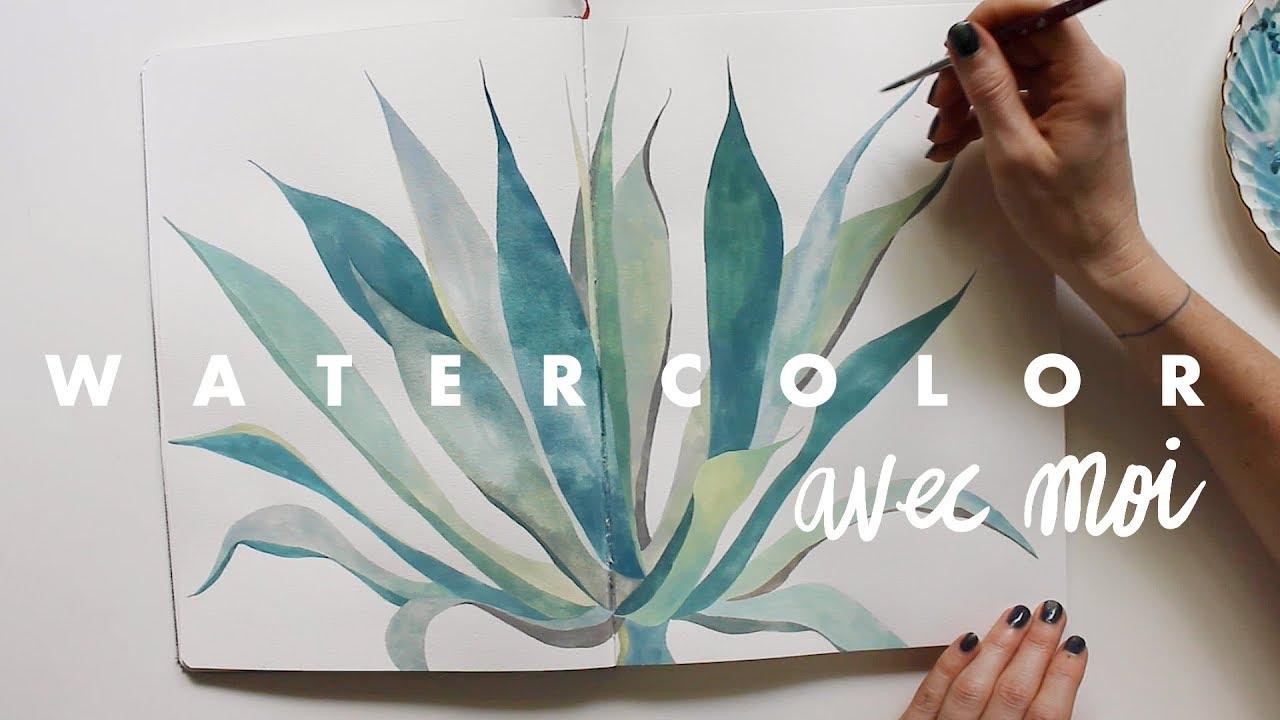 Watercolor Avec Moi X Blue Agave Youtube