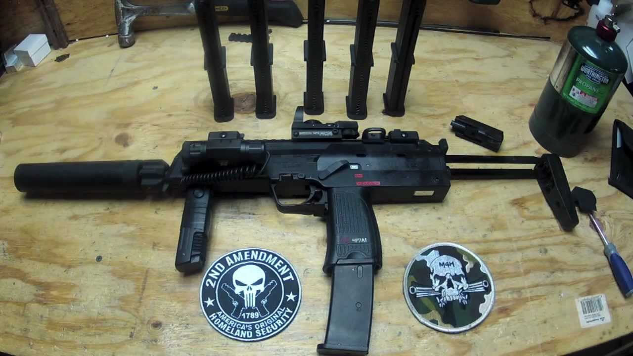 KWA MP7 W/ Angry Gun Power Up Suppressor