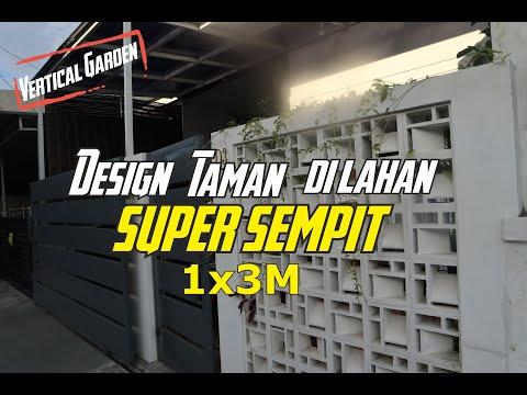 Desain Taman  Belakang dan Depan rumah, Design Taman Minimalis Super Sempit 1x3 Meter