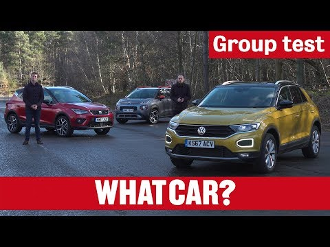 SEAT Arona vs Volkswagen T-Roc vs Citroen C3 Aircross 2018 review – small SUV group test | What Car?