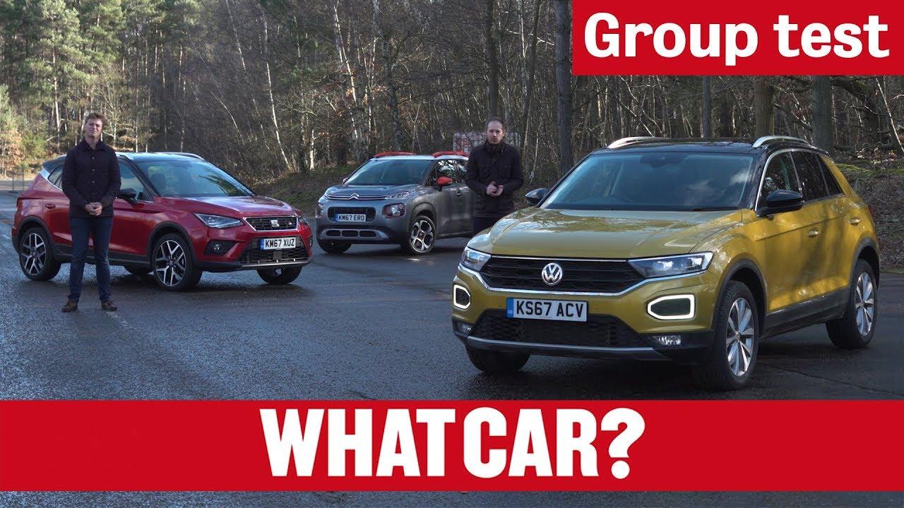 2018 Volkswagen T-Roc vs Citroën C3 Aircross vs Seat Arona - Small SUV Group Test   What Car? - Dauer: 10 Minuten