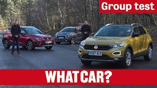 Volkswagen T-Roc vs SEAT Arona vs Citroen C3 Aircross 2018 review – small SUV group test | What Car?