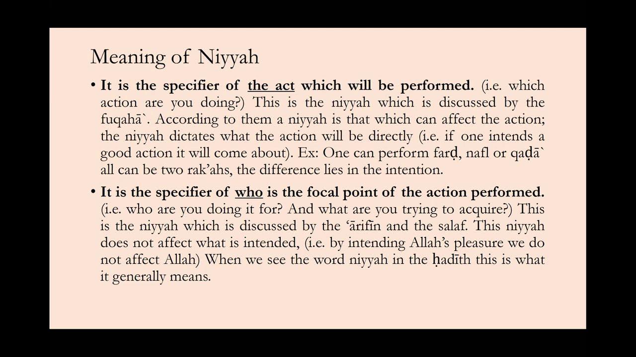 Al-Arba'in al-Nawawiyyah Hadith 1.5 || Shaykh Nafis