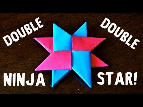 Papercraft How to Make a Double Ninja Star (DIST-8) - Rob's World